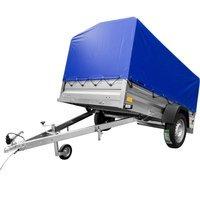 Remorca transport 236 x 125 Garden Trailer 236 Unitrailer 750 KG DMC cu schelet și prelată albastră