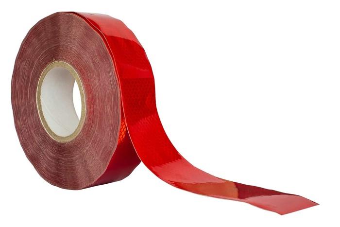 Bandă reflectorizantă roșie - întreaga rolă