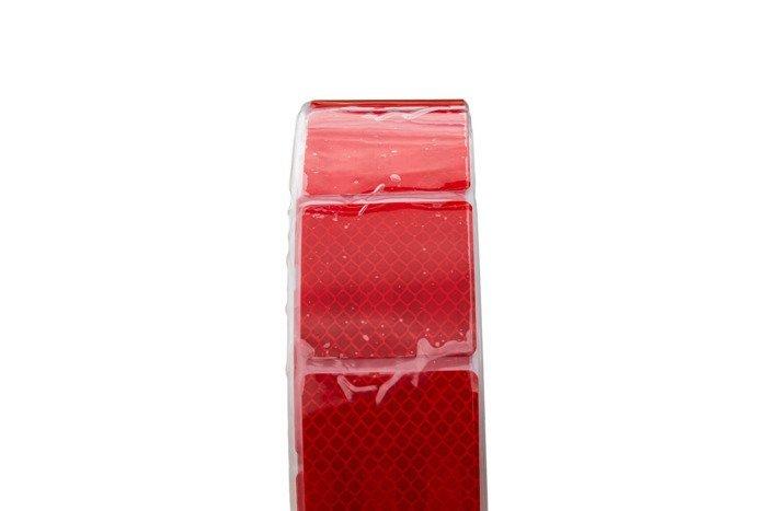 Banda reflectorizantă roșie segmentată - rola întreagă 45 m
