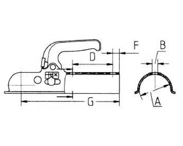 Cuplă remorcare pentru remorcă auto Knott K14A fi 50 mm N-3