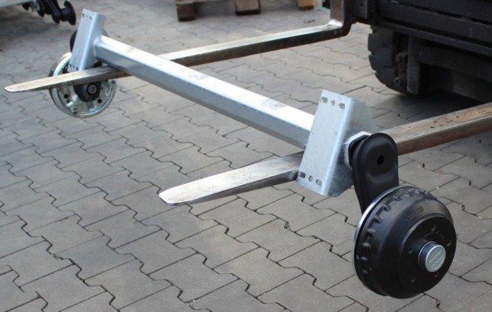 Osie cu frână pentru remorci transport ambarcațiuni AL-KO 1200 mm 1000 kg 5x112 W-PROOF