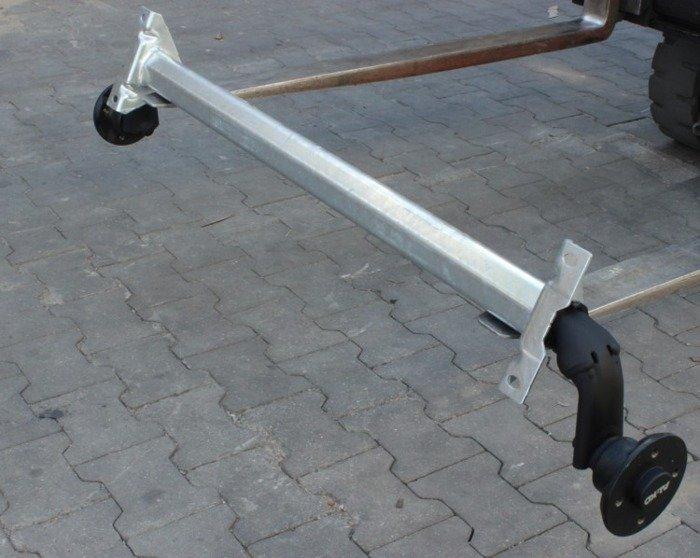 Osie fără frână pentru remorci auto AL-KO optima 1180 mm 750 kg 100x4