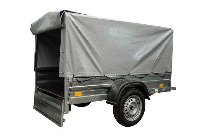 Remorca auto ușoară 200 x 106 cu schelet pentru prelată și prelată Garden Traler 200 Unitrailer masa totală maximă admisă de: 750 kg