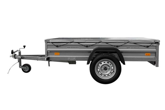 Remorca pt. categoria B cu prelată plată și roată de sprijin 200x125 Garden Traler 205 DMC 750 kg
