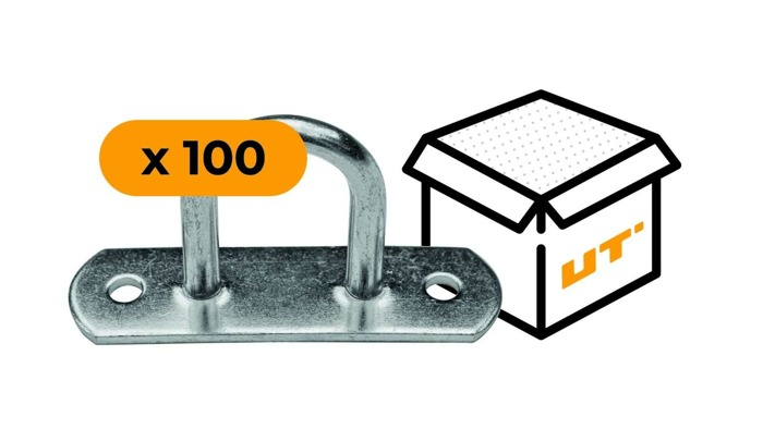 SET: 100 x Ochet obloane flexibil din oțel galvanizat H-30 mm (07.30)
