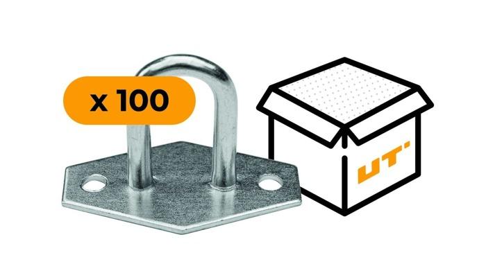 SET: 100 x Ochet obloane flexibil din oțel galvanizat H-30 mm (15.30)