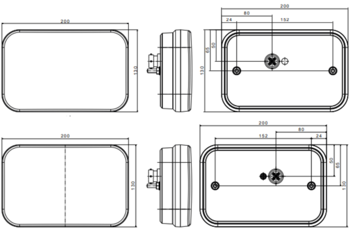 SET: Lămpi spate LED remorci cu 6 funcții Fristom FT-270 stângă-dreaptă 12V