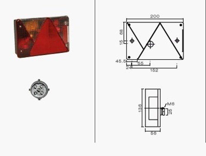 Set 2 lămpi: Multipoint IV stânga și Multipoint IV dreapta Aspöck plus cablaje