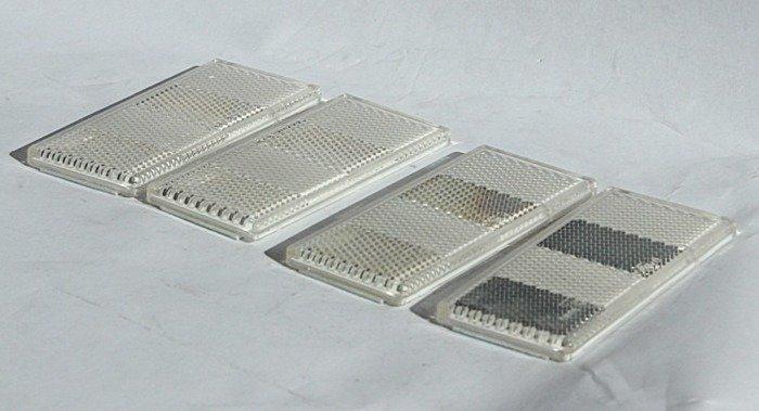 Set: 4 lămpi reflectorizante albe pentru remorci auto