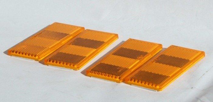 Set: 4 lămpi reflectorizante portocalii pentru remorci auto
