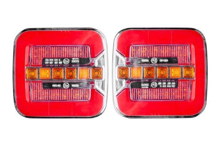 Set de două lămpi spate fără fir pe  LED cu lumina semnalizare dinamică